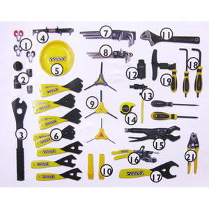 Pedros Apprentice Bench Tool Kit Set 55 Piece