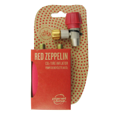 Planet Bike 1019 Red Zeppelin CO2 Inflator w-2 Cartridges - TheBikesmiths