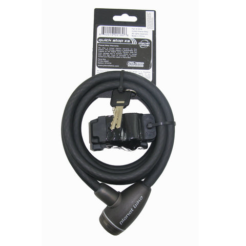 Planet Bike Quickstop 12mm x 6 ft Key Cable Lock