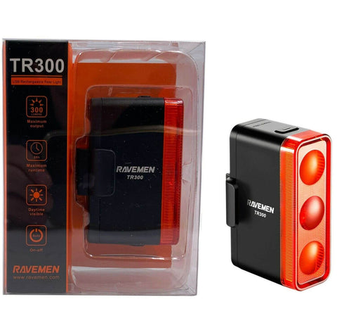 Ravemen TR-300 USB LED DayBright Taillight Auto-On