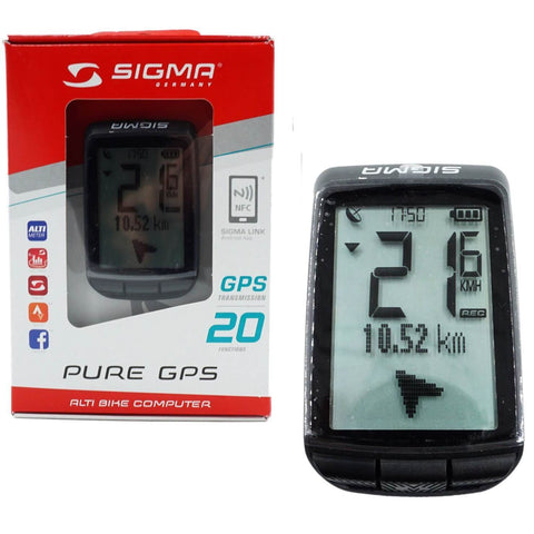 Image of SIGMA Pure-GPS 20-Function Bike Wireless Computer - TheBikesmiths