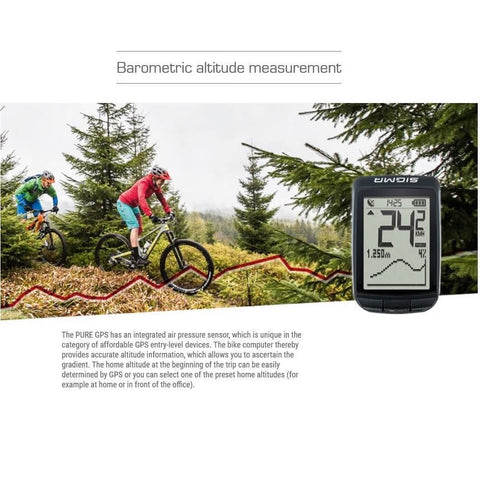 SIGMA Pure-GPS 20-Function Bike Wireless Computer
