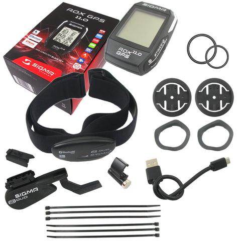 Sigma ROX 11.0 Complete Set Cadence-GPS-Heart Rate Wireless Computer