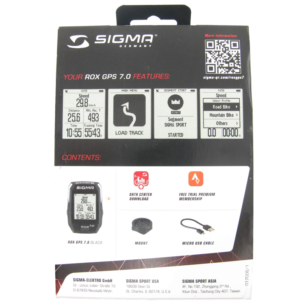 Sigma ROX 7.0 GPS Wireless Computer