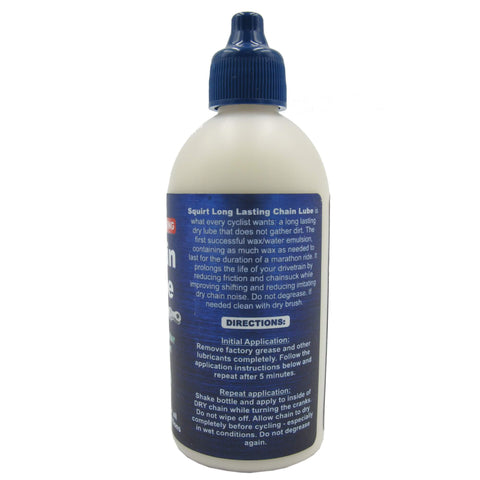 Squirt Long Lasting Dry 4oz Drip Chain Lube - Single
