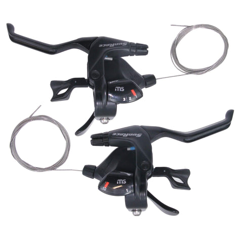 Image of Sunrace 2/3x 10 Speed STMS30 Trigger Shifters - TheBikesmiths
