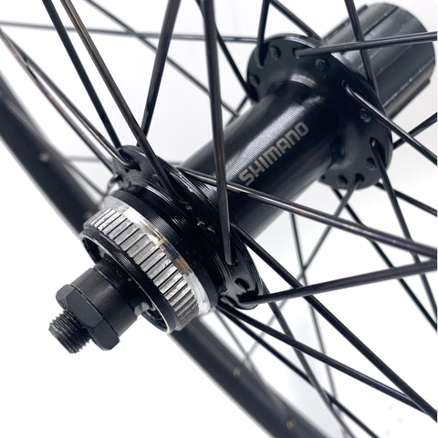 "Sta-Tru 26"" Black Doublwall Rear Wheel Shimano TX505 Center-Lock Disc Hub"