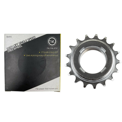 Image of Sunlite Easy Off Single Speed Freewheel 17t Silver