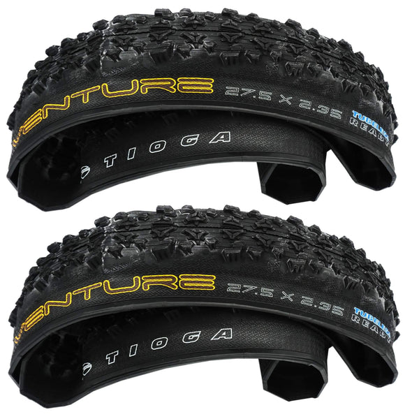 Tioga Venture 27.5x2.35 Folding Tubeless Ready Tire - 2 Pack