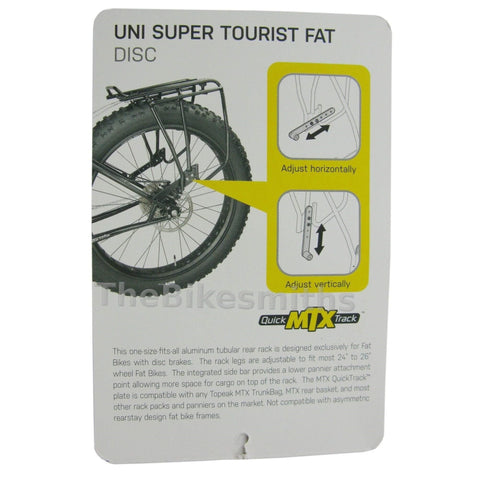 Topeak TA2052B Uni-Super Tourist Fat Bike MTX Rack