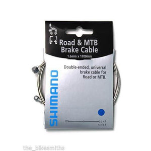 Shimano Road & MTB  1.6x1700mm Brake Cable - Double Ended