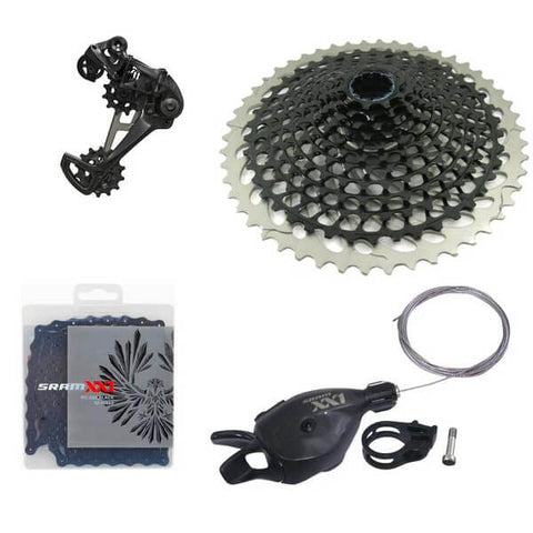 Image of SRAM Eagle XX1 Black 12 Speed Groupset with X01 XG-1295 10-50t X-DOME Cassette