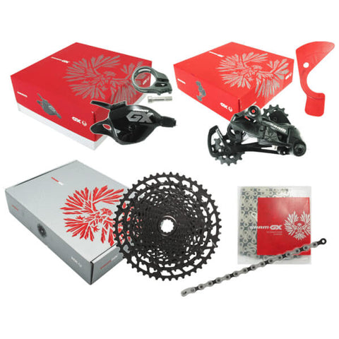 Image of Sram Eagle GX 12 Speed 4 Piece Group Kit with Sram Eagle NX PG-1230 Cassette - TheBikesmiths