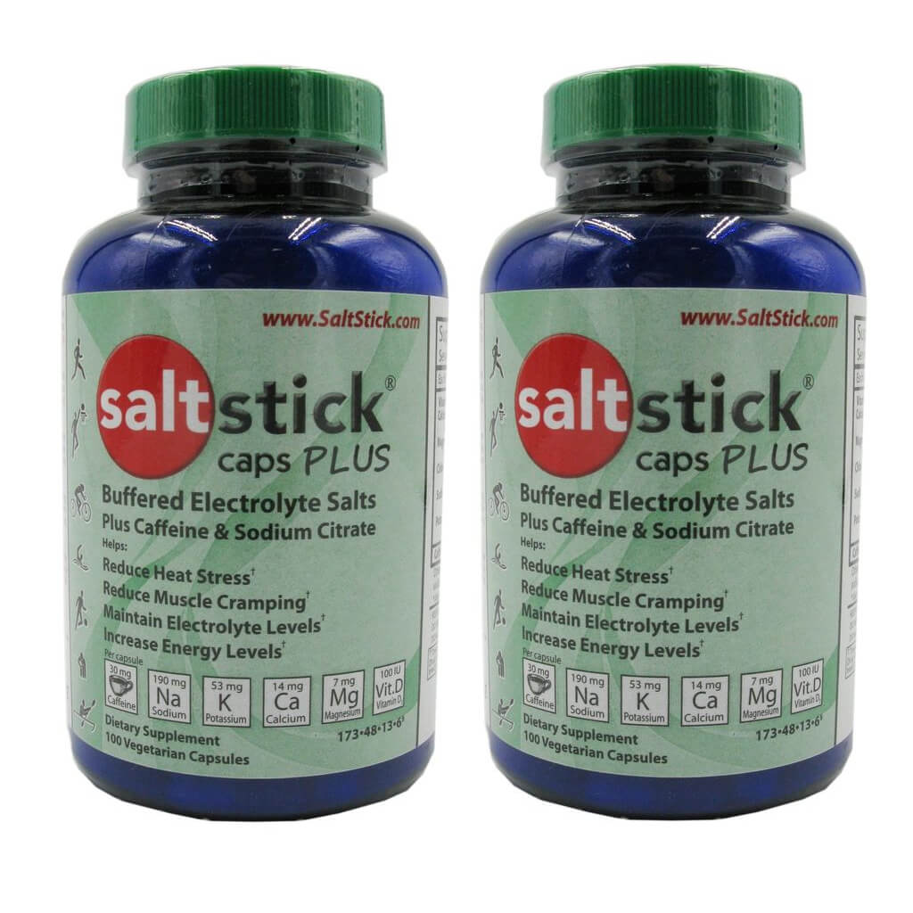 SaltStick Buffered Electrolyte Capsules Plus Caffiene - 2 Pack