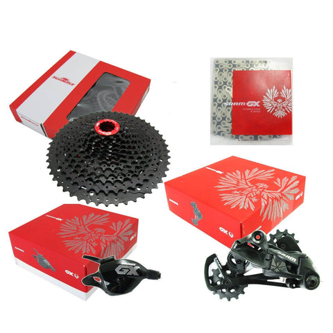 Image of Sram Eagle GX 12 Speed with SunRace 11-50 Cassette 4 Piece Group Set - TheBikesmiths