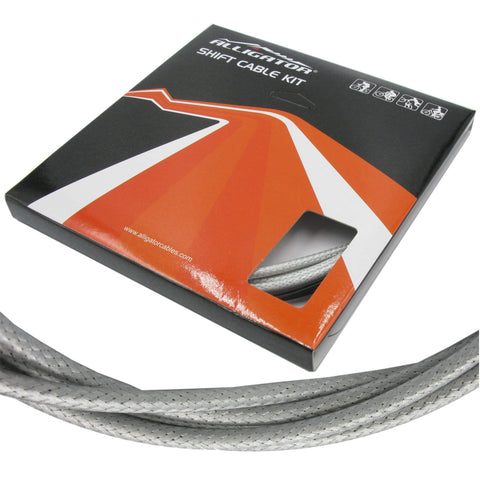 Image of Alligator Sleek Guide 5mm PTFE/SS Shift Cable/Housing Set Front and Rear - TheBikesmiths