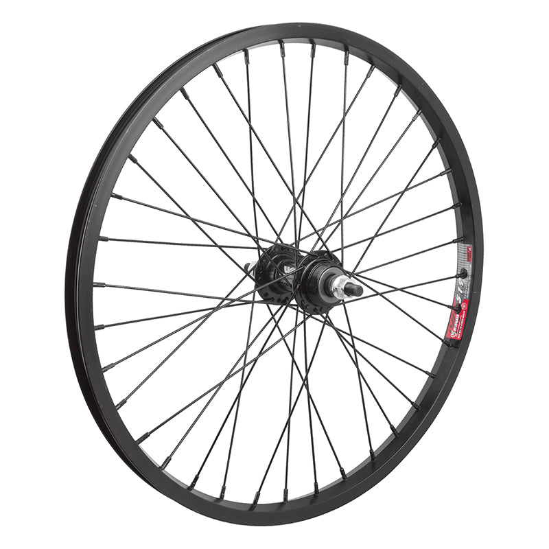 "Wheelmaster 20-inch BMX Black Rear Wheel 3/8"" axle"