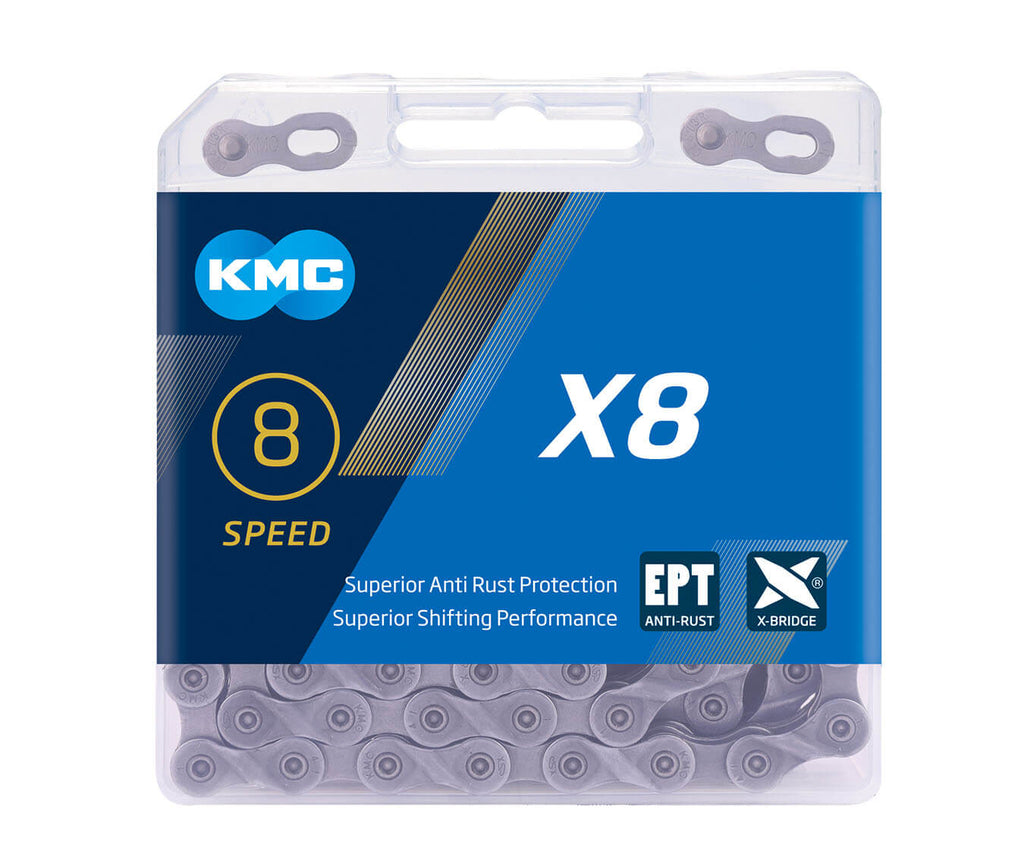 KMC X8-EPT Eco Proteq 8 Speed Chain - TheBikesmiths