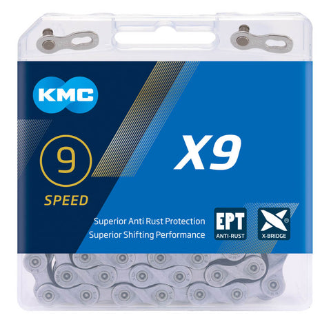 KMC X9-EPT Eco Proteq Anti-Rust 9 Speed Chain - TheBikesmiths
