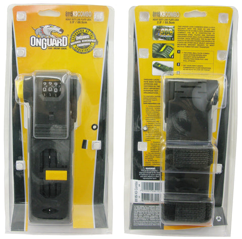 OnGuard 8115 K-9 88.5cm Combo Link Plate Lock - TheBikesmiths