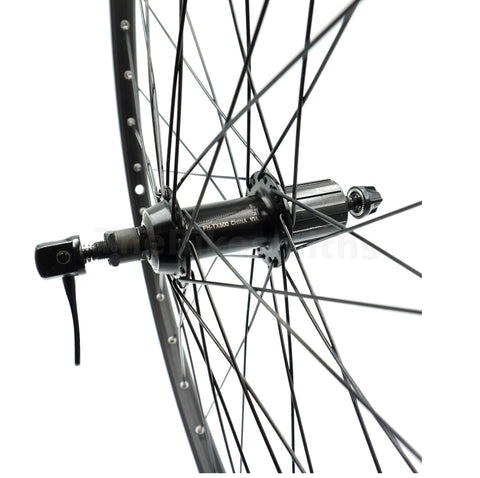 Image of Alex EN24 26-inch BLACK Shimano Cassette Type Rear Wheel - TheBikesmiths