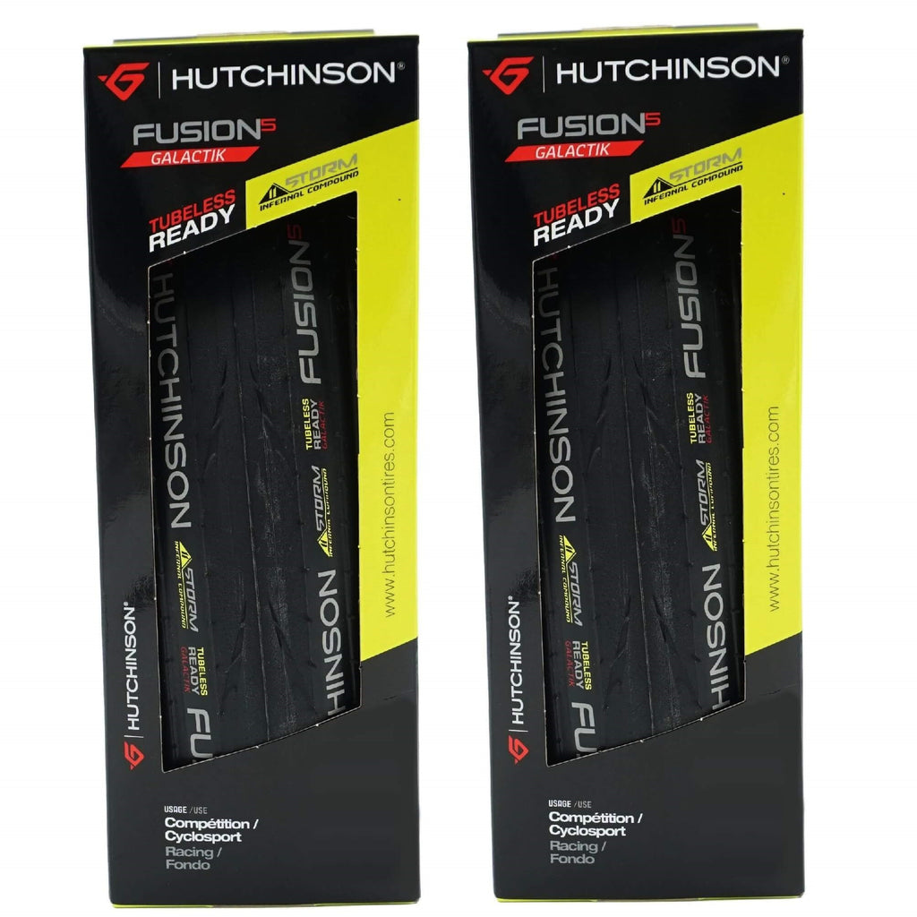 Pair Hutchinson Fusion-5 Galactik 700x25c Tubeless Ready Folding Tire