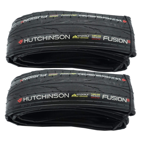 Image of Pair Hutchinson Fusion-5 Galactik 700x25c Tubeless Ready Folding Tire