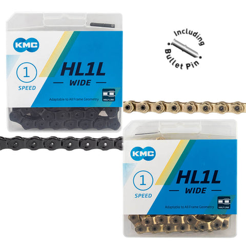KMC HL1L Wide 1/8-inch Half Link Chain - TheBikesmiths