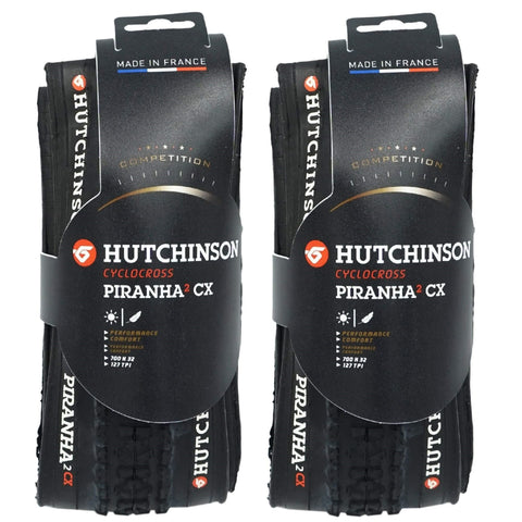 Image of Hutchinson Pirahna-2 CX 700x32c Folding Tire - 2 Pack