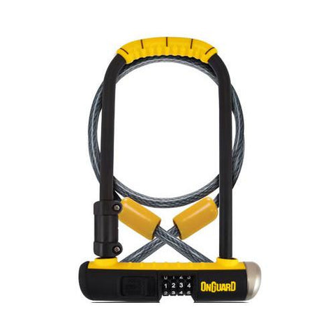 OnGuard 8012C Bulldog 115mm x 230mm Combo Cable/U-Lock