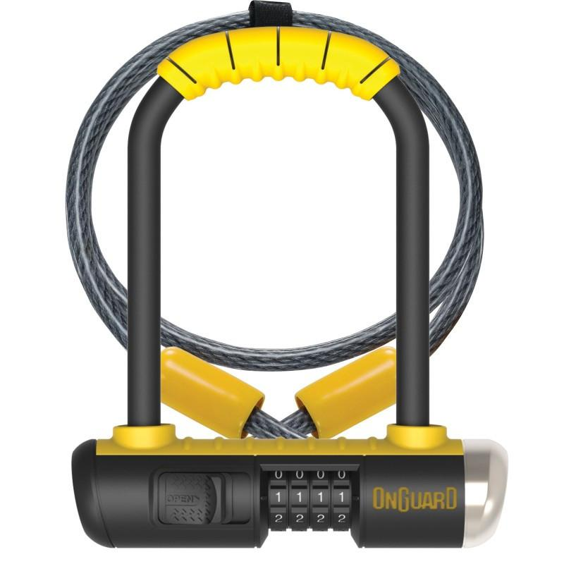 OnGuard 8015C Bulldog Mini 90mm x 140mm Combo Cable/U-Lock - TheBikesmiths