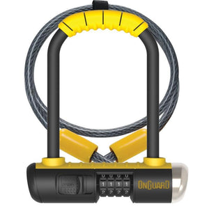 OnGuard 8015C Bulldog Mini 90mm x 140mm Combo U-Lock w-4' Cable - TheBikesmiths