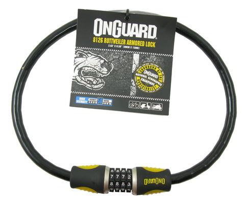 OnGuard 8126 Rottweiler 80cm x 15mm Combo Cable Lock - TheBikesmiths