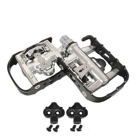 Wellgo WPD-95B SPD Clipless Platform Pedals Black - TheBikesmiths