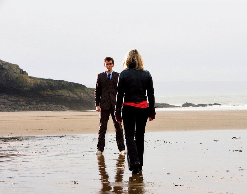 Doctor Who Doomsday - The Doctor Says Goodbye to Rose at Bad Wolf Bay