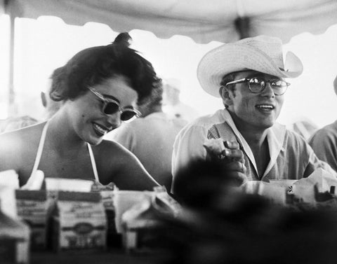 Frank Worth captures James Dean and Elizabeth Taylor on set of Giant.