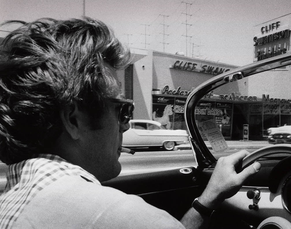 James Dean In His Porsche 356 Super Speedster