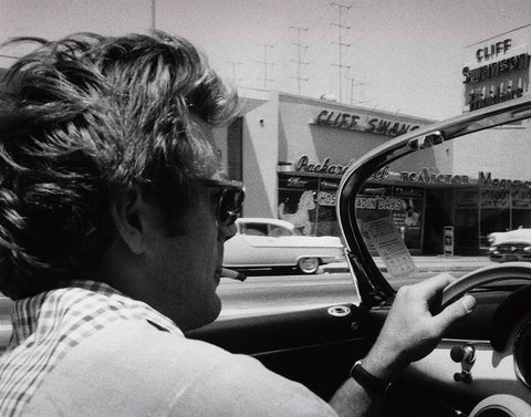 James Dean in his Porsche 356 Super Speedster.