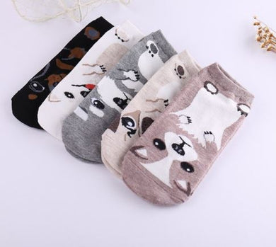 3D Mad Dog Ankle Socks