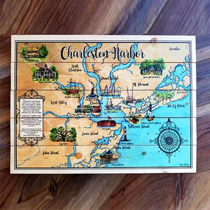Charleston Map with Landmarks