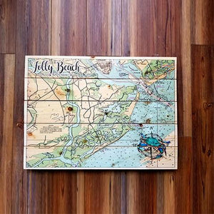Folly Beach, SC Pallet Map