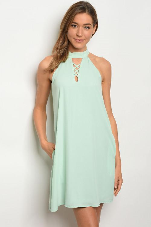 Sleeveless Mint Dress