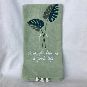 A Simple Life Dish Towel