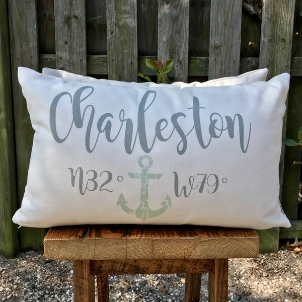 Charleston w/ Anchor Accent Pillow