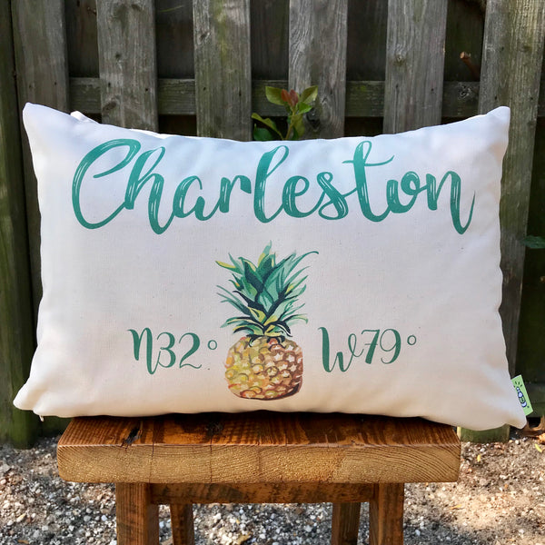 Charleston w/ Pineapple Accent Pillow