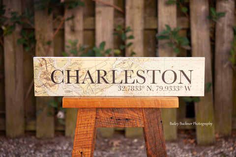 Charleston City Map Signs