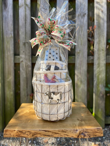 Farm Animal Gift Basket