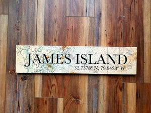 James Island, SC Coordinate Sign