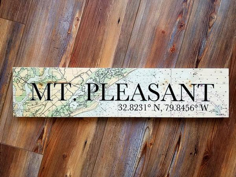 Mount Pleasant, SC Coordinate Sign