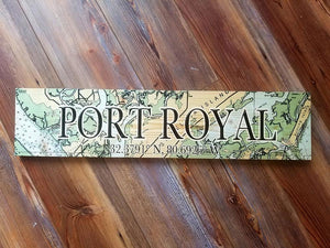 Port Royal, SC Coordinate Sign